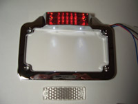 Add On LED Chrome License Plate Frame for GL1800 Gold Wing