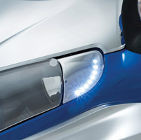 Show Chrome Accessories Chrome Headlight End Trim with LED Lights