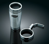 Kuryakyn Passenger Drink Holder with Stainless Steel Mug for GL1800