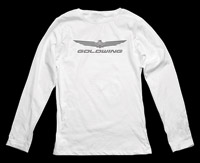 Honda Women's Gold Wing White Long-Sleeve T-shirt