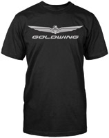 Honda Men's Gold Wing Corporate Black T-shirt