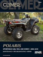 Clymer Polaris Sportsman 600, 700, 800 Series 2002-10 Manual