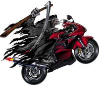 Lethal Threat Red Reaper Sport Bike Decal