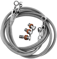 Goodridge Stainless Steel Front Brake Line Kit 3-Piece w/ Tee