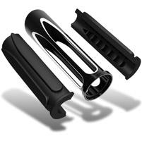 Arlen Ness Black Deep Cut Comfort Grips for Metric