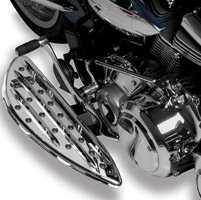 Arlen Ness Deep-Cut Chrome Driver Floorboards