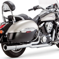 Vance & Hines 2 Into 1 Pro Pipe Chrome