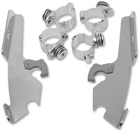 Memphis Shades Polished Trigger-Lock Mount Kit for Fats/Slims