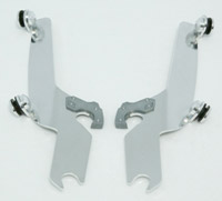 Memphis Shades Sportshield Polished Mounting Plates Only