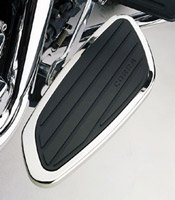 Cobra Chrome Swept Driver Floorboards for Yamaha Stryker
