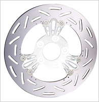 Arlen Ness Chrome Deep Cut Floating Rotor for Victory