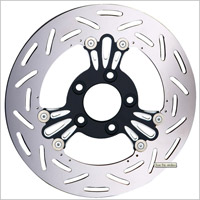 Arlen Ness Black and Chrome Deep Cut Floating Rotor for Victory