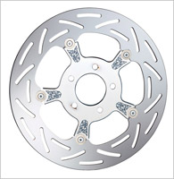 Arlen Ness Chrome Engraved Floating Rotor for Victory