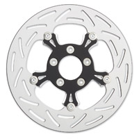 Arlen Ness Black and Chrome G3 Floating Rotor for Victory