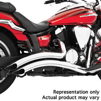 Freedom Performance Exhaust Chrome Sharp Curve Radius System