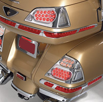 Show Chrome Accessories LED Saddlebag Lights for GL1800 Gold Wing