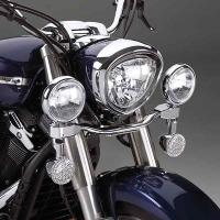 Show Chrome Accessories Elliptical Driving Kit for VT 1100 and Aero