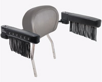 Love Handles Chrome with Studs and Fringe Arm Rest for Cobra Round Backrest