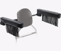 Love Handles Chrome with Fringe Arm Rest for Kawasaki