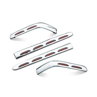 Kuryakyn Lighted Saddlebag Molding LED Set with Red Lens for Honda GL1800
