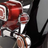 Show Chrome Accessories Round Reflector Grilles