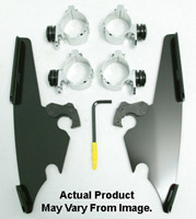 Memphis Shades Black Fats/Slim Windshield Trigger-Lock Mount Kit