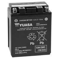 Yuasa Maintenance Free Battery Model YTX14AH-LBS