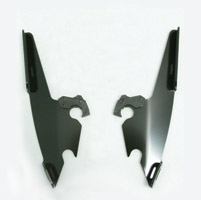Memphis Shades Fats/Slims/Batwing Fairing Black Mounting Plates Only