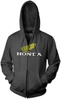 Honda Casual Charcoal Zip-Up Hoodie