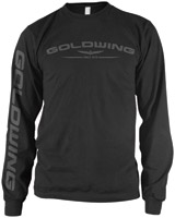 Honda Gold Wing Long-Sleeve Black T-Shirt