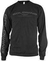 Honda Men's Gold Wing Black Long-Sleeve T-Shirt