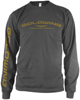Honda Gold Wing Long-Sleeve Charcoal T-Shirt
