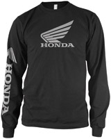 Honda Men's Wing Black Long-Sleeve T-shirt