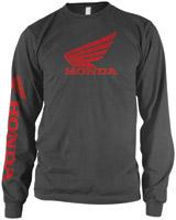 Honda Classic Logo Gray Long-Sleeve T-shirt