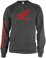 Honda Men's Wing Gray Long-Sleeve T-shirt