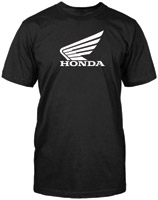 Honda Men's Big Wing Black T-Shirt