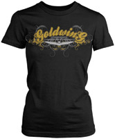 Women's Honda Gold Wing Posh Black Short-Sleeve T-shirt