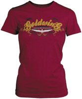 Women's Honda Gold Wing Posh Burgundy Short-Sleeve T-shirt