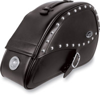 Saddlemen Desperado Teardrop Saddlebags with LED Marker Lights for Kawasaki