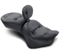 Mustang One-Piece Wide Regal Touring Seat with Backrest