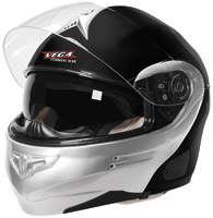 VEGA Summit 3.1 Black and Silver Modular Helmet