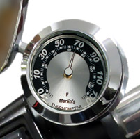 Marlin's CHAMP Series Black/Silver Horseshoe Fahrenheit Thermometer