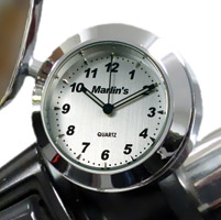 Marlin's CHAMP Series Brushed Silver Aluminum Clock