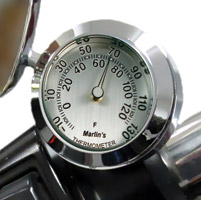 Marlin's CHAMP Series Brushed Silver Aluminum Fahrenheit Thermometer