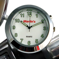 Marlin's CHAMP Series LED Backlit White Clock