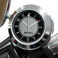 Marlin's CHAMP Series Black and Silver Analog Clock