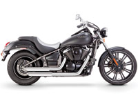 Vance & Hines Chrome Twin Slash Staggered Exhaust