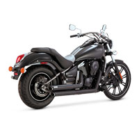 Vance & Hines Black Twin Slash Staggered Exhaust