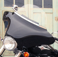 Willie & Max Gloss Black Fairing with Radio Cutouts and Mount Kit