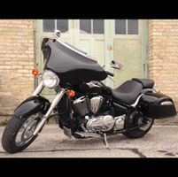 Willie & Max Gloss Black Touring Upgrade Full Kit with Radio Cutouts